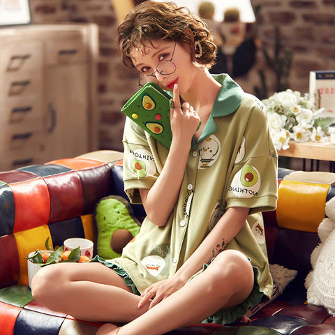 Avocado Pajamas<br>Footie