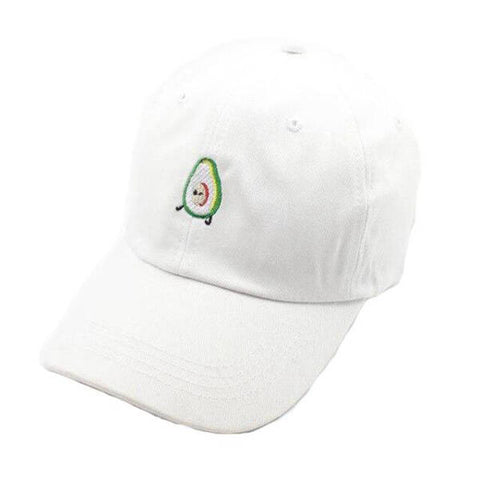 White Embroidery Avocado Cap | Avocado Clothing Store