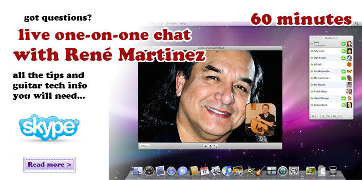 Live one-on-one videochat with René Martinez / 60 minutes