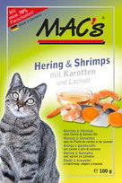 MAC's Herring & Shrimp <BR>with Carrot & Salmon <BR>Oil - 12 x 100g pouch