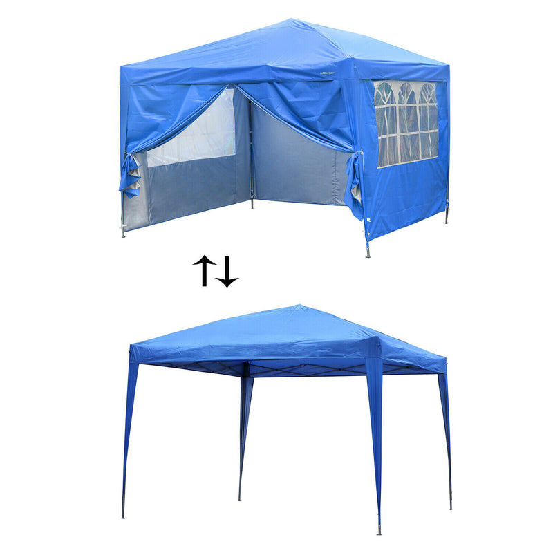 Ainfox 10'X10' Pop Up Canopy Tent Commercial Instant Shelter with 4 Removable Sidewalls
