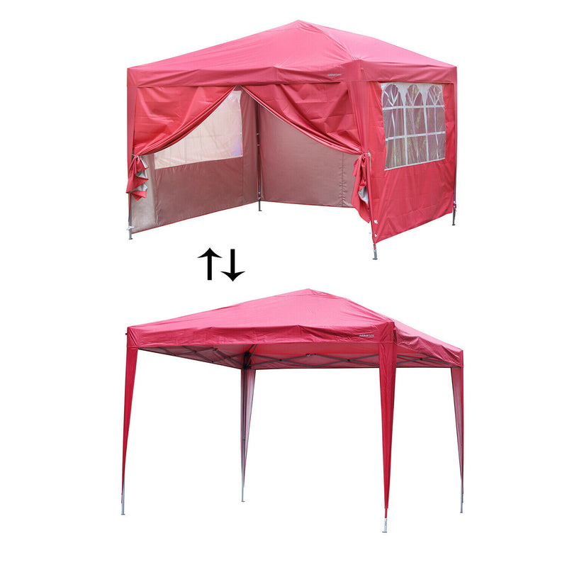 Ainfox 10'X10' Outdoor Party Canopy Wedding Tent Patio Gazebo Pavilion w/4 Side Wall
