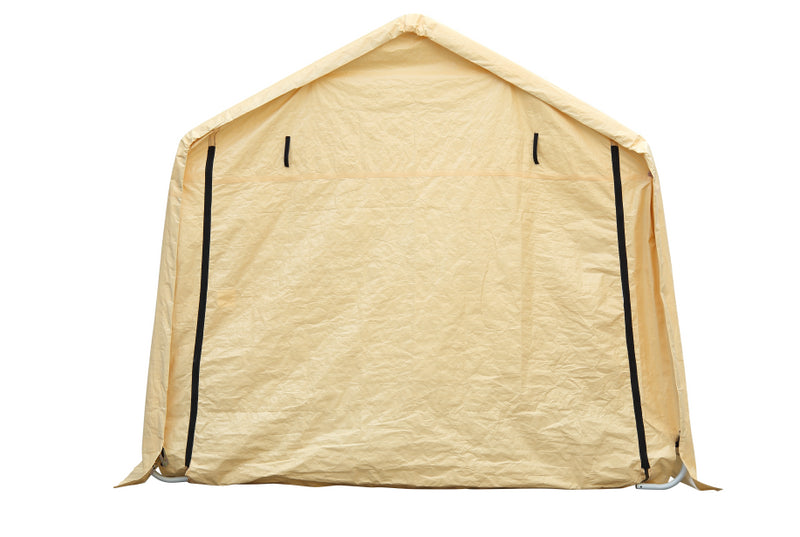 Ainfox 17x10ft Heavy Duty Enclosed Carport Canopy with Sidewalls Waterproof Garage Car Shelter Storage shed (Yellow,White)