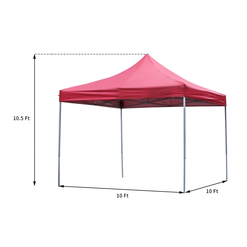 Ainfox 10x10 Ft Outdoor Canopy Tent, Pop-Up Canopy Tent Portable Shade Instant Folding Canopy with Carrying Bag and Height Adjustable (Blue,Red,White)