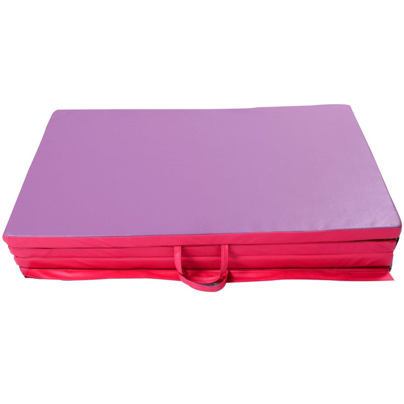 Gymnastic Mat 4'x6'x2'' Folding Tumbling Mats for Kids Gym Training Mats for Home Fitness