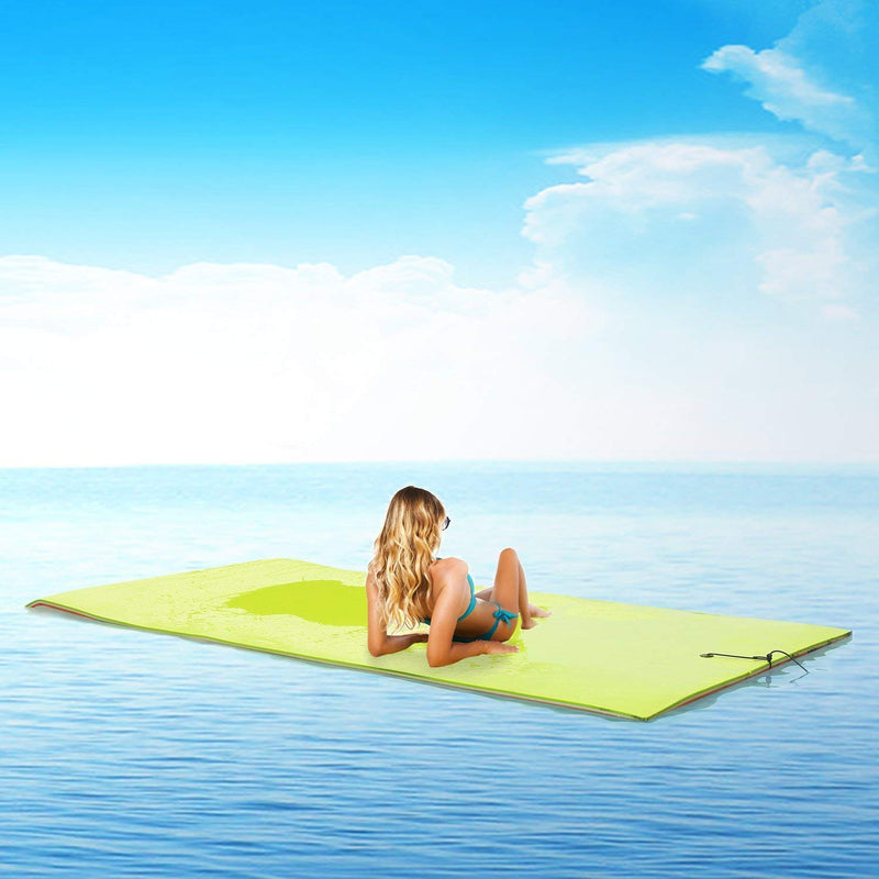 Ainfox Floating Aqua Pad 18 x 6 Ft Water Mat Suit For Lake River Pool Water Camping