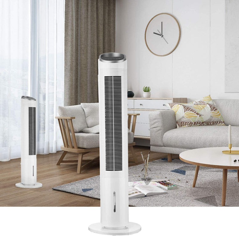 Portable Air Cooler Fans Oscillating for Bedroom, Premium Tower Cooling Fan with Water Tank, Remote Control, 39.4inch