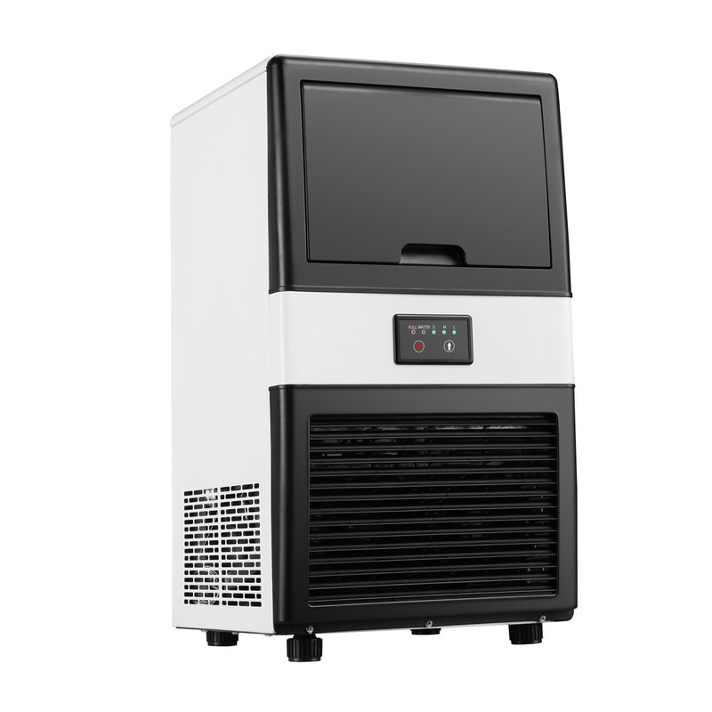 Ainfox Commercial and Household Ice Maker Machine - Makes 40 Pounds Ice in 24 hrs - Free-Standing Ice Maker Machine