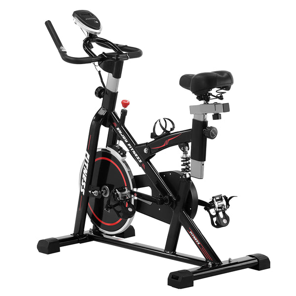 Ainfox Exercise Bike Stationary Belt Drive Indoor Cycling Bike Flywheel Resistance Cycle Bike Spin Bike for Home Cardio Workout