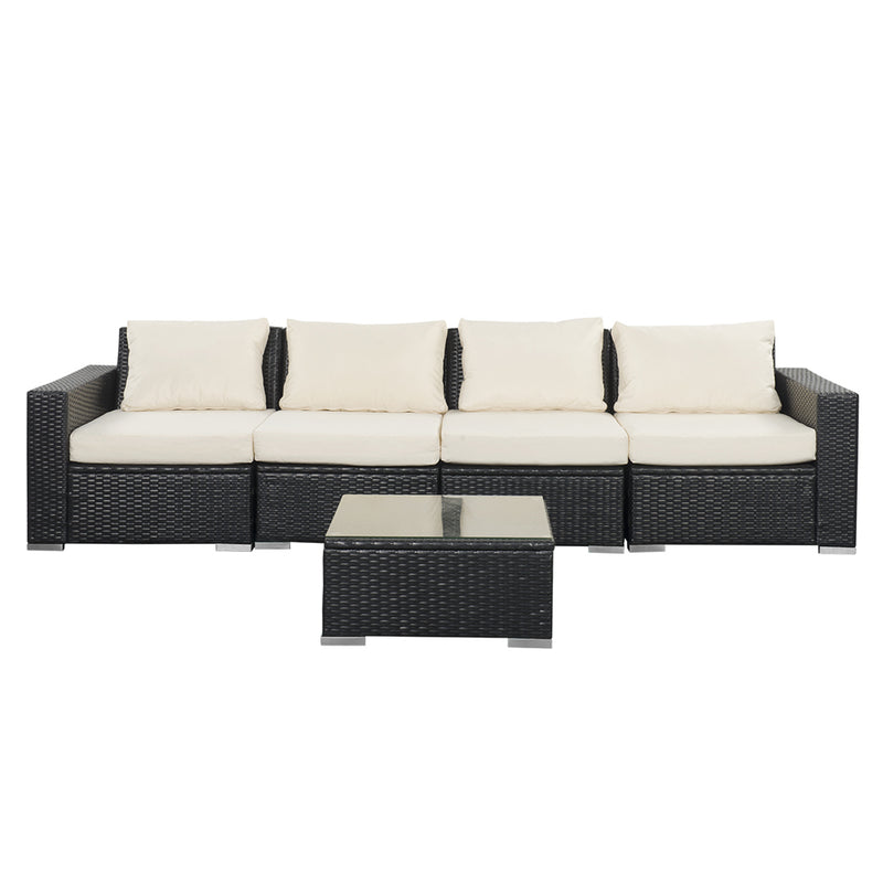 Magnificent Outdoor Patio Furniture Sets Pe Rattan Wicker Sofa Sectional Inzonedesignstudio Interior Chair Design Inzonedesignstudiocom