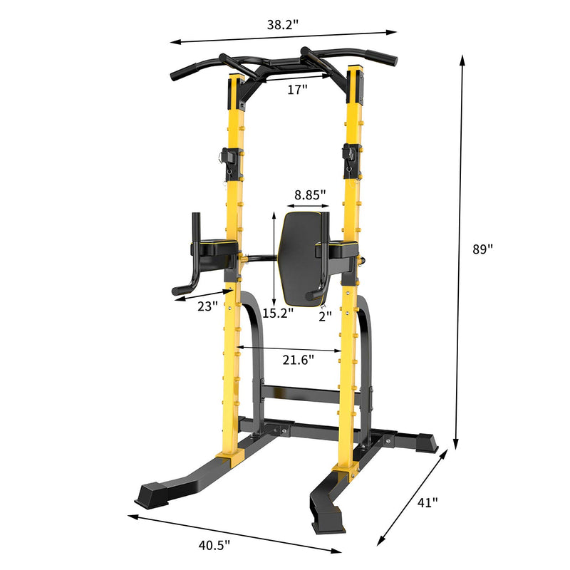 Ainfox Power Tower Heavy Duty Gym Power Multi-Function Home Strength Training Tower Dip Stand Pull up Workout Station Bar