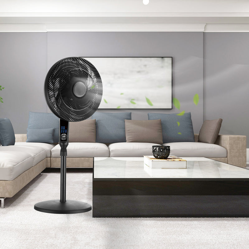 Ainfox Adjustable Oscillating Pedestal Stand Fan with Remote for Home,3 Mode, 4 Speed, 16""