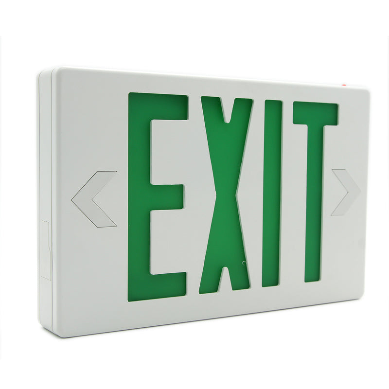 Ainfox 6 Pack LED Exit Sign Emergency Light - Battery Backup- LED Emergency Exit Light, 120-277V AC