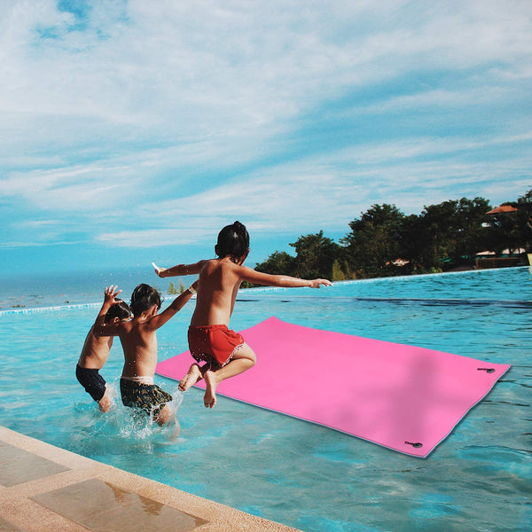 Ainfox 12'x6' 3-layer Floating Pad Water Mat Island XPE Foam Lake Aqua Foam Mat