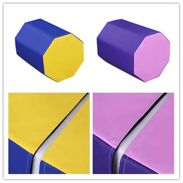 "24.4"" x 29"" Octagon Tumbler Octagon Gymnastics Mat Skill Shape Handsprings Backbend Somersault Tumbling Trainer (2color)"