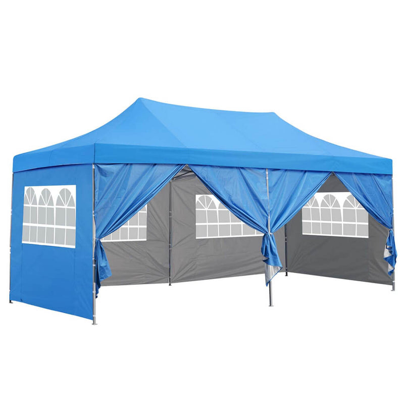 Ainfox 10x20 Ft Pop up Canopy Tent, Party Heavy Duty Instant Gazebo with 4 Removable Sidewalls,4 Transparent Windows and 2 Zipper Doors