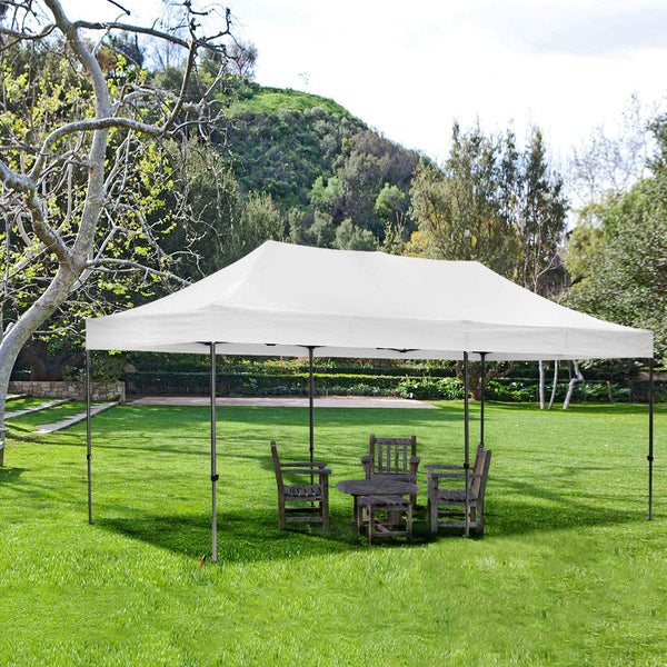 Ainfox 10x20 ft Instant Pop up Folding Heavy Duty Height Adjustable Shelter Canopy Tent
