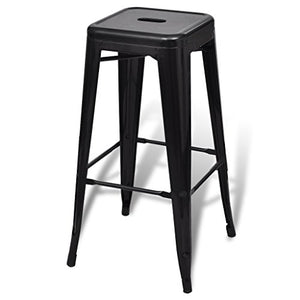 Lot de 2 tabourets de bar  - Noir