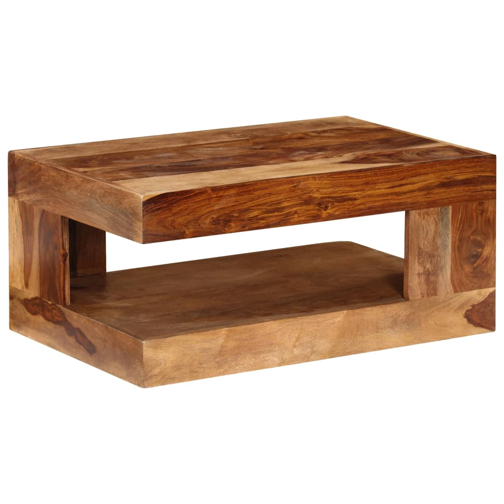 Table basse en bois de Sesham