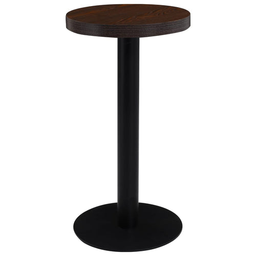 Table de bistro Marron fonc' 40 cm MDF