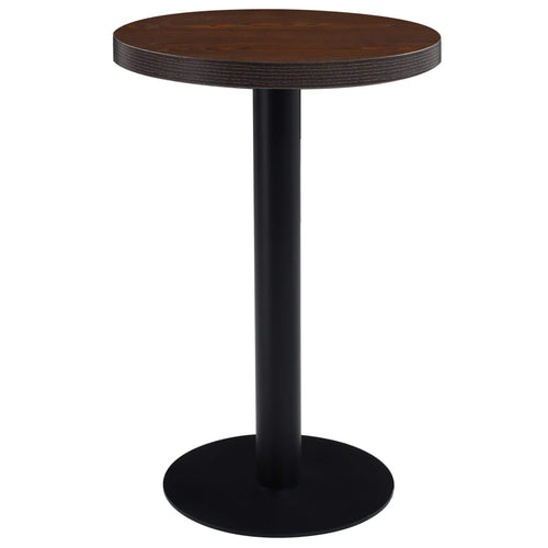 Table de bistro Marron fonc' 50 cm MDF