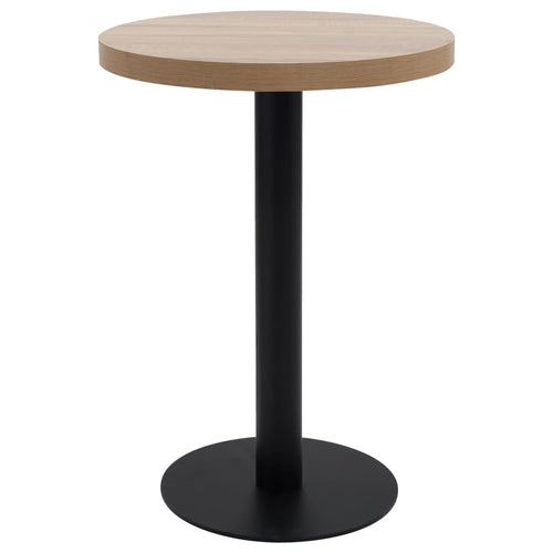 Table de bistro Marron clair 60 cm MDF