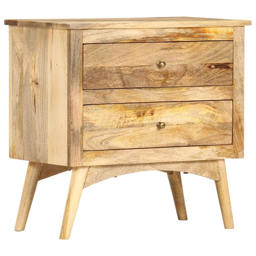 Table de chevet 65 x 35 x 60 cm Bois de manguier massif