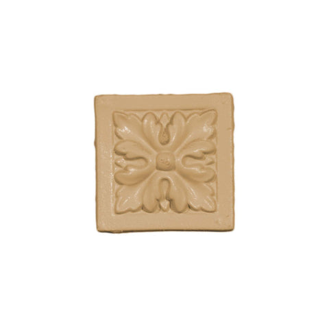 Square Floral Rosette Paint Applique
