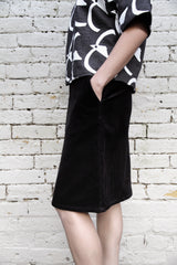 Corduroy Skirt: Black