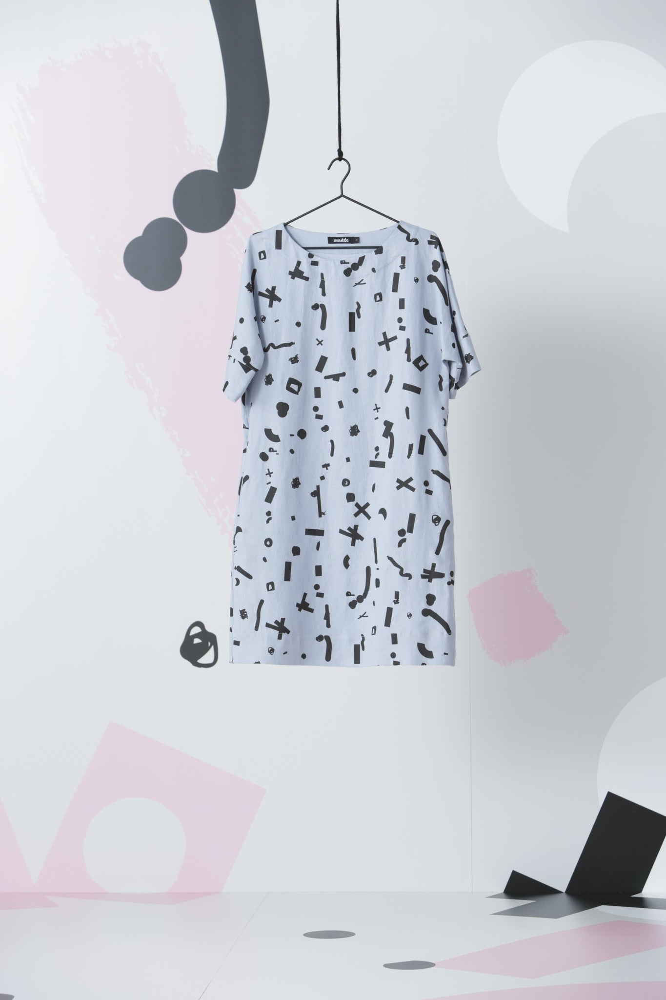 Poco Loco Tunic Dress: Stone Blue