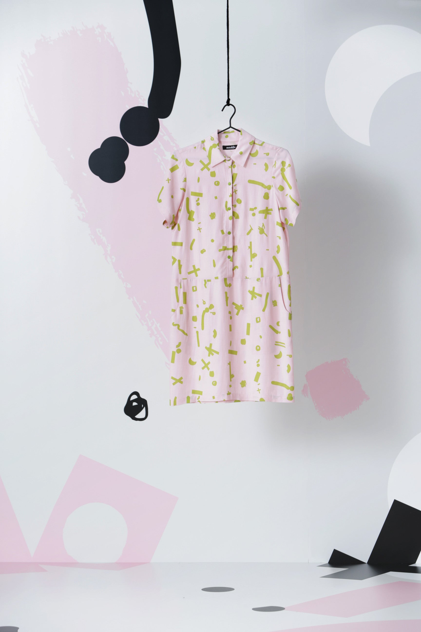 Poco Loco Shirt Dress: Pink