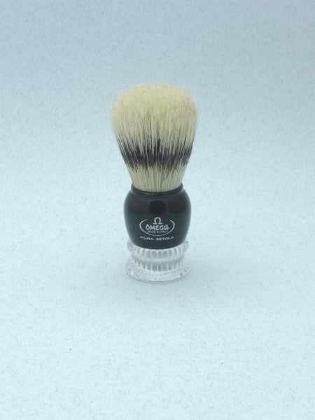 Omega Boar Bristle Shaving Kit - BYOR (bring your own razor).