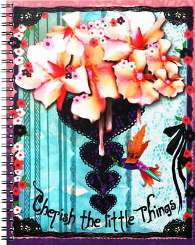 CHERISH THE LITTLE THINGS Spiral Notebook