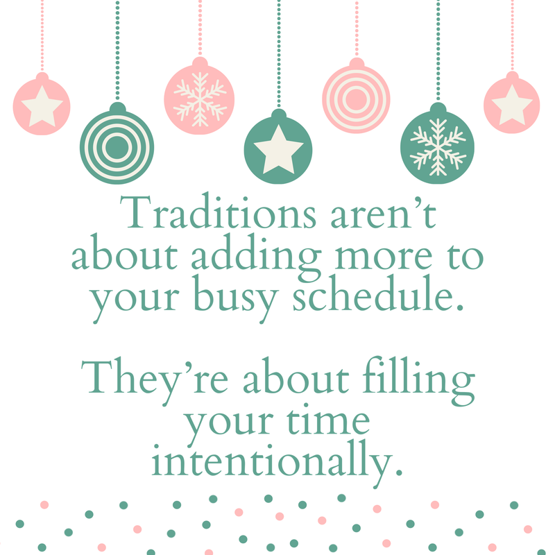 Let's talk about holiday traditions...