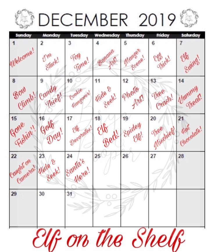 The Elves are Coming: Elf on the Shelf Calendar