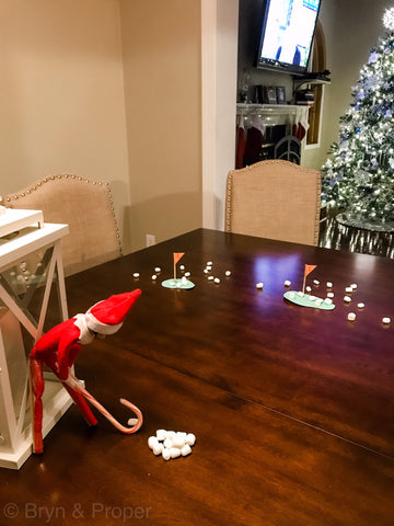 elf on the shelf golf