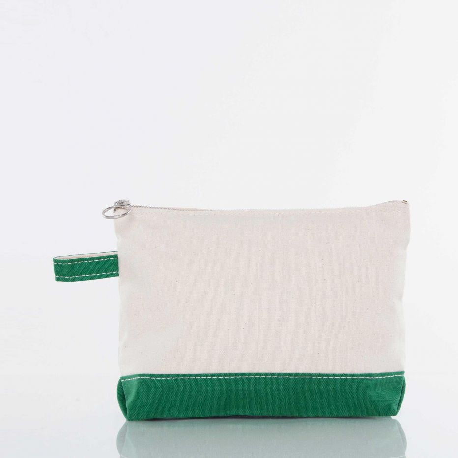Canvas Catch All Pouch - Emerald