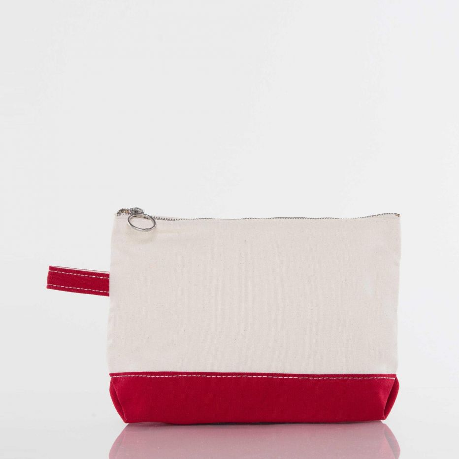 Canvas Catch All Pouch - Red