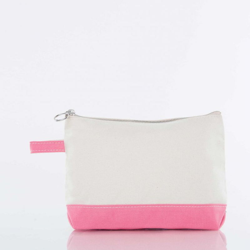 Canvas Catch All Pouch - Coral