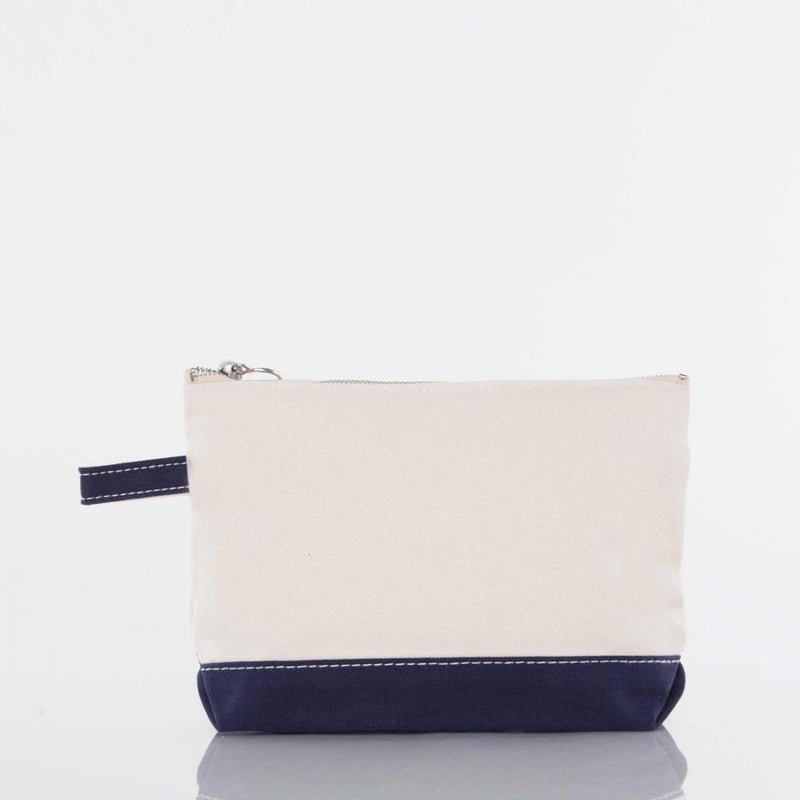 Canvas Catch All Pouch - Navy