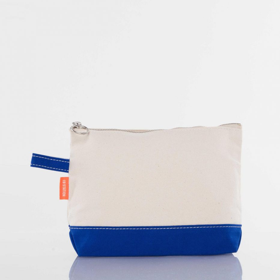 Canvas Catch All Pouch - Royal Blue