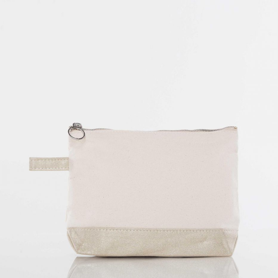 Canvas Catch All Pouch - Metallic Gold