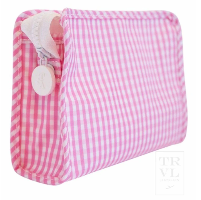 TRVL - Small Gingham Roadie Pink