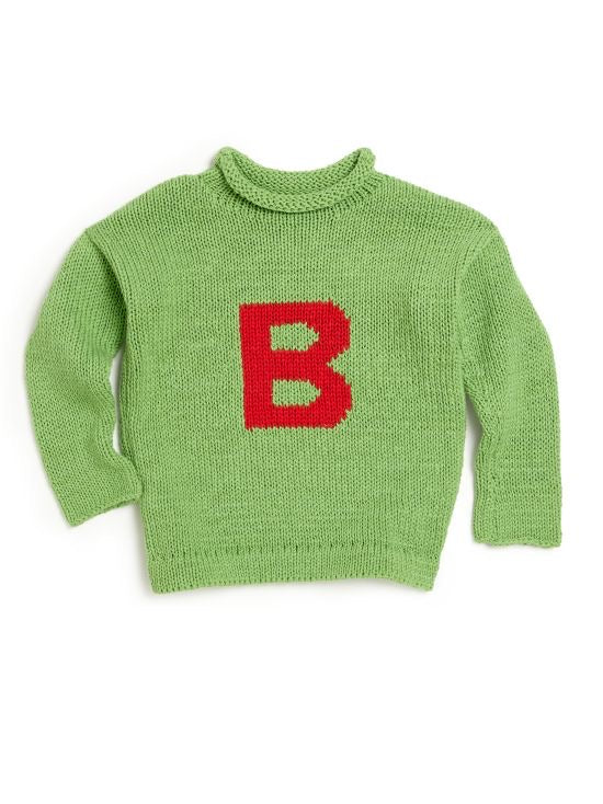 Letter Sweater Initial Sweater Kids Babies Toddler