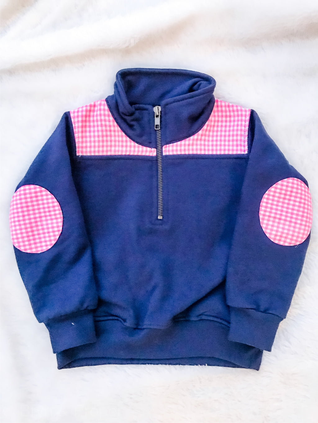 Quarter Zip Pullover Gingham