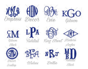 Bryn and Proper Monogram designs