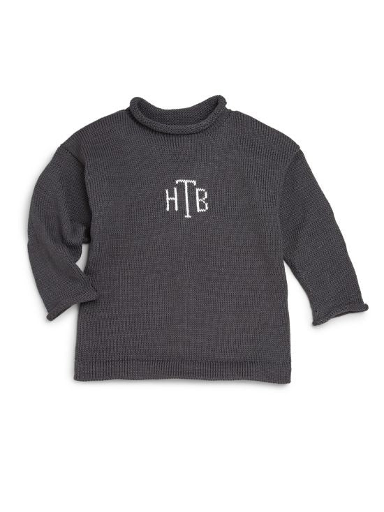 Custom Monogram Knit Sweater Baby Toddler Kids Children Boys Girls
