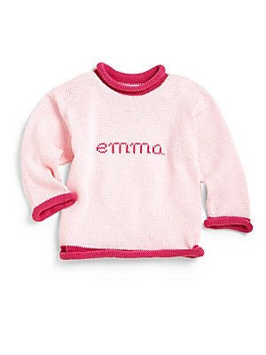 Childrens Name Sweater Custom Knit Little Boys Little Girls Baby Toddler Personalized Gifts