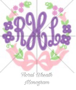 Bryn and Proper Floral Wreath Monogram