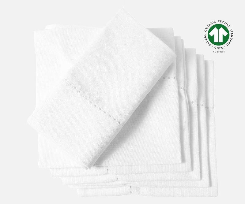 Organic Cotton Dinner Napkins - Set of 6